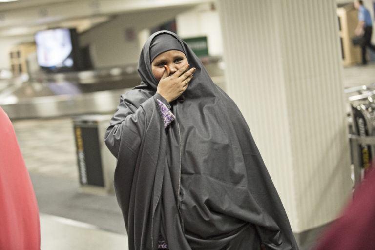 Shocked Somali Woman