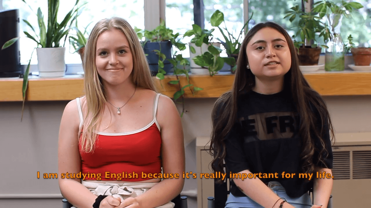 Two English students
