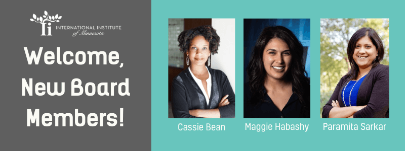 Board Members: Cassie Bean, Maggie Habashy and Paramita Sarkar