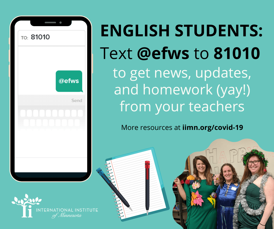 ENGLISH STUDENTS: Text@efws to 81010 to get news, updates, and homework (yay!) from your teachers