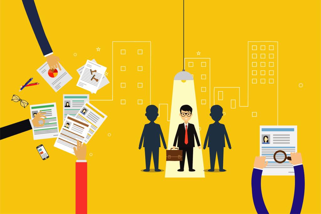 Job search hiring process illustration