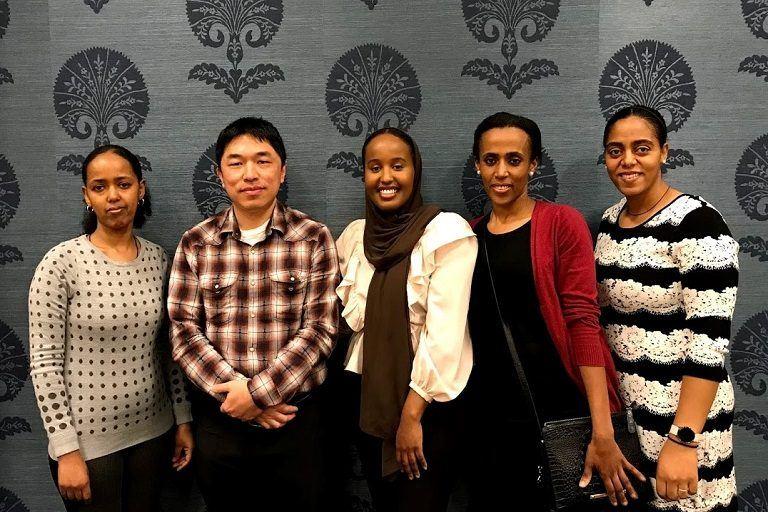 Kiddist, Peter, Fathi, Yane, Banchi - Medical Career Advancement students and staff