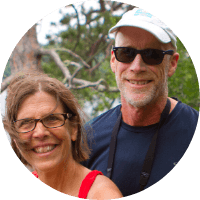 Mark and Sharon, volunteers at the International Institute of Minnesota