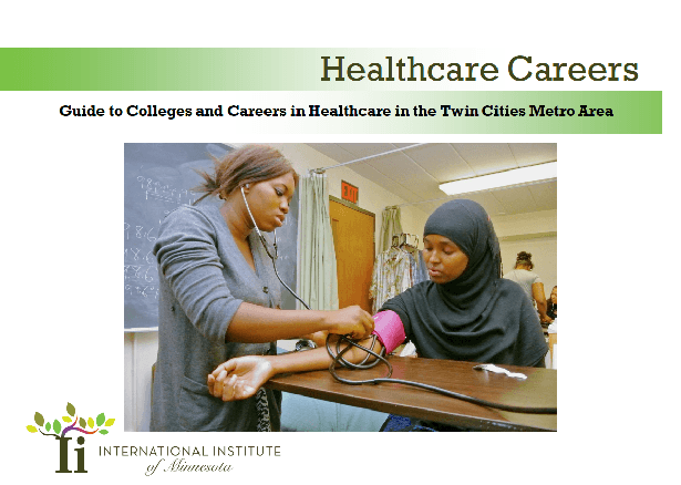 Healthcare careers 2020 guide from International Institute of Minnesota