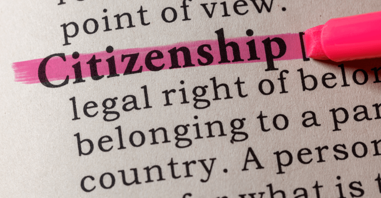 Citizenship dictionary definition