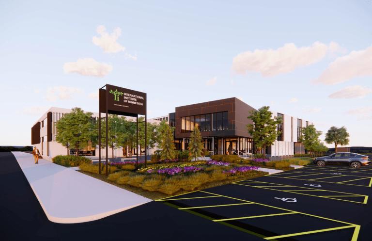 Rendering of future International Institute of Minnesota renovated building