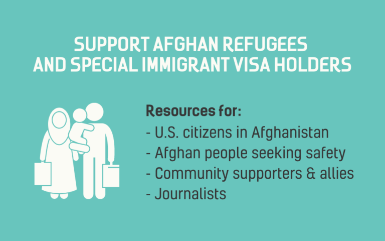 Support Afghan Refugees and Special Immigrant Visa Holders