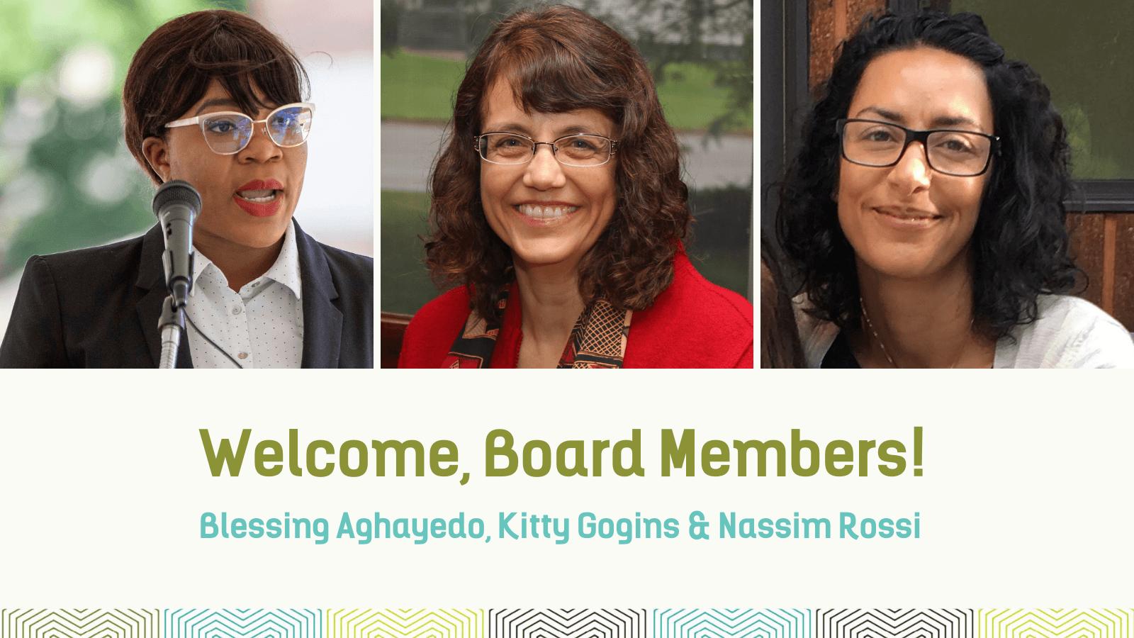 Welcome, board members!